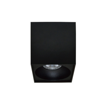 Rettangolare stropna lampa kvadratna 130 GU10 1x50W max. IP20 – Crno/crno