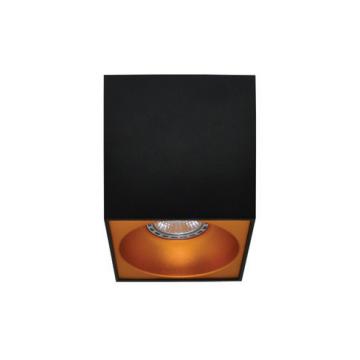 Rettangolare stropna lampa kvadratna 130 GU10 1x50W max. IP20 – Crno/zlatno
