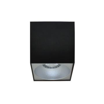 Rettangolare stropna lampa kvadratna 130 GU10 1x50W max. IP20 – Crno/srebrno