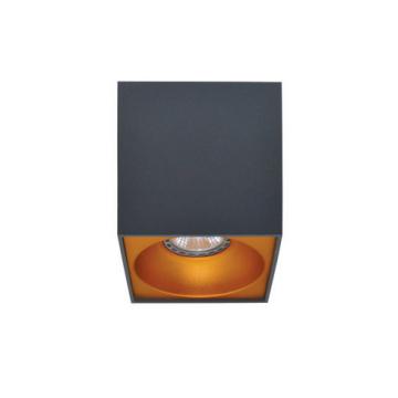 Rettangolare stropna lampa kvadratna 130 GU10 1x50W max. IP20 - Tamno sivo/zlatno