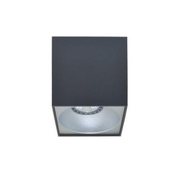 Rettangolare stropna lampa kvadratna 130 GU10 1x50W max. IP20 - Tamno sivo/srebrno