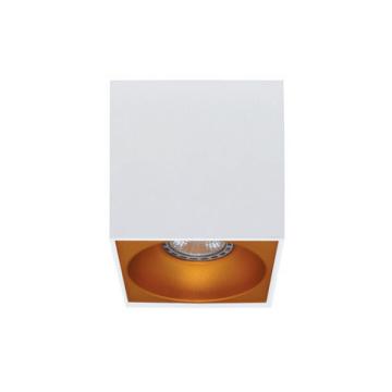 Rettangolare stropna lampa kvadratna 130 GU10 1x50W max. IP20 - Bijelo/zlatno