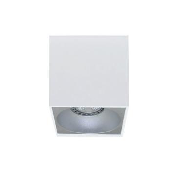 Rettangolare stropna lampa kvadratna 130 GU10 1x50W max. IP20 - Bijelo/srebrno