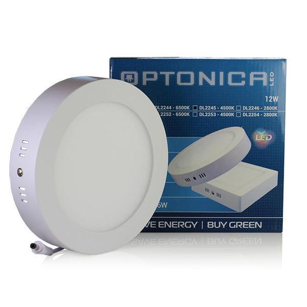 LED  panel okrugli nadgradni 12W