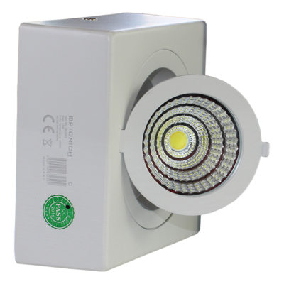 LED COB 12W downlight kvadratni nadgradni