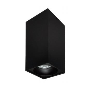Rettangolare stropna lampa kvadratna 254 GU10 1x50W max. IP20 - Crno/crno