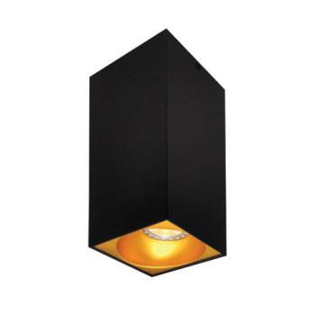Rettangolare stropna lampa kvadratna 254 GU10 1x50W max. IP20 - Crno/zlatno