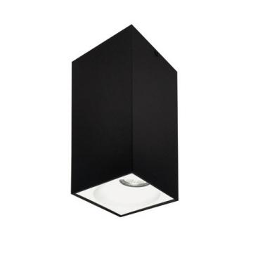 Rettangolare stropna lampa kvadratna 254 GU10 1x50W max. IP20 - Crno/bijelo