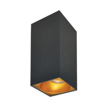 Rettangolare stropna lampa kvadratna 254 GU10 1x50W max. IP20 - Tamno sivo/zlatno