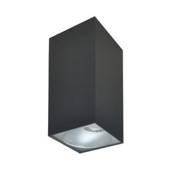Rettangolare stropna lampa kvadratna 254 GU10 1x50W max. IP20 - Tamno sivo/srebrno
