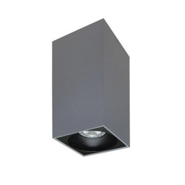Rettangolare stropna lampa kvadratna 254 GU10 1x50W max. IP20 - Srebrno/crno