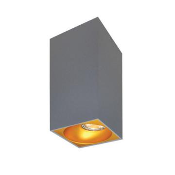 Rettangolare stropna lampa kvadratna 254 GU10 1x50W max. IP20 - Srebrno/zlatno