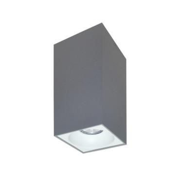 Rettangolare stropna lampa kvadratna 254 GU10 1x50W max. IP20 - Srebrno/bijelo