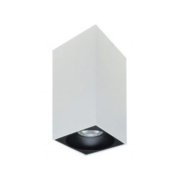 Rettangolare stropna lampa kvadratna 254 GU10 1x50W max. IP20 - Bijelo/crno