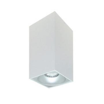 Rettangolare stropna lampa kvadratna 254 GU10 1x50W max. IP20 - Bijelo/srebrno