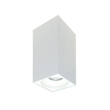 Rettangolare stropna lampa kvadratna 254 GU10 1x50W max. IP20 - Bijelo/bijelo