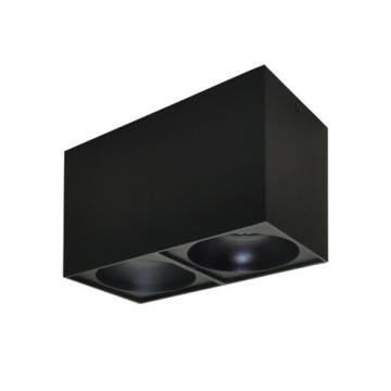 Rettangolare stropna lampa 2x130 GU10 2x50W max. IP20 - Crno/crno