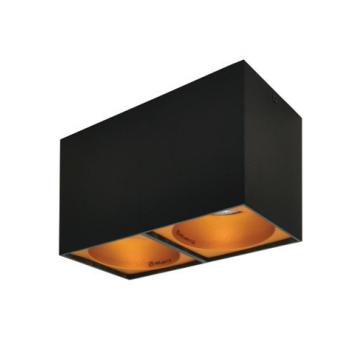 Rettangolare stropna lampa 2x130 GU10 2x50W max. IP20 - Crno/zlatno