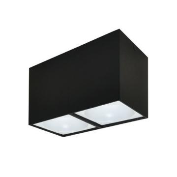 Rettangolare stropna lampa 2x130 GU10 2x50W max. IP20 - Crno/bijelo