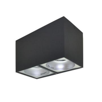 Rettangolare stropna lampa 2x130 GU10 2x50W max. IP20 - Tamno sivo/srebrno