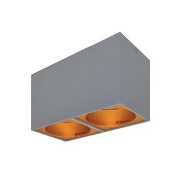 Rettangolare stropna lampa 2x130 GU10 2x50W max. IP20 - Srebrno/zlatno