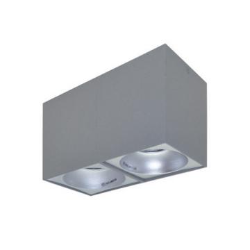 Rettangolare stropna lampa 2×130 GU10 2x50W max. IP20 – Srebrna