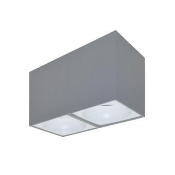 Rettangolare stropna lampa 2x130 GU10 2x50W max. IP20 - Srebrno/bijelo