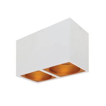 Rettangolare stropna lampa 2x130 GU10 2x50W max. IP20 - Bijelo/zlatno