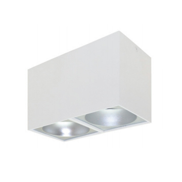 Rettangolare stropna lampa 2x130 GU10 2x50W max. IP20 - Bijelo/srebrno