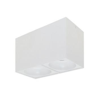 Rettangolare stropna lampa 2x130 GU10 2x50W max. IP20 - Bijelo/bijelo