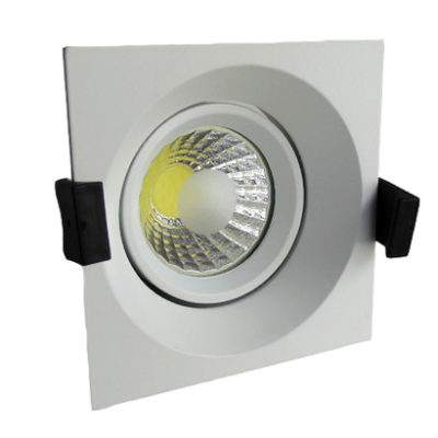 LED downlight kvadratni 8W COB zakretni - Bijela