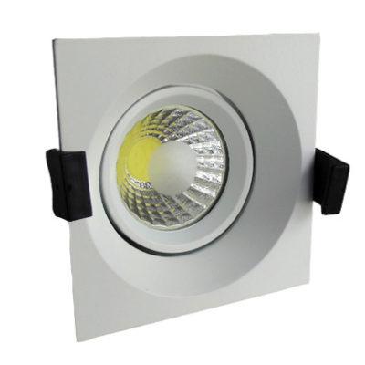 LED downlight kvadratni 8W COB zakretni – Bijela