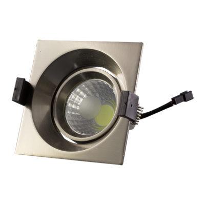 LED downlight kvadratni 8W COB zakretni – Inox