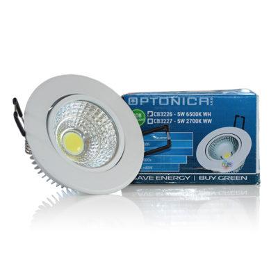 LED COB 5W downlight okrugli – Bijela