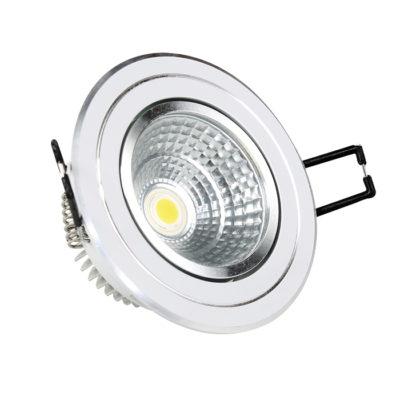 LED COB 5W downlight okrugli – Inox