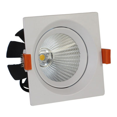 LED downlight kvadratni 15W COB zakretni