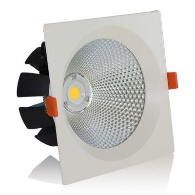 LED downlight kvadratni 30W COB