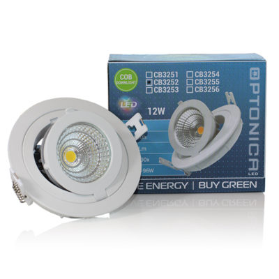 LED COB 12W downlight okrugli