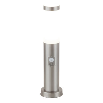 Torch inox sa senzorom (5m, 100°) E27 1x60W max. IP44