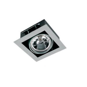 Ugradno kućište za AR111 1xG53 IP20 crno/srebrno