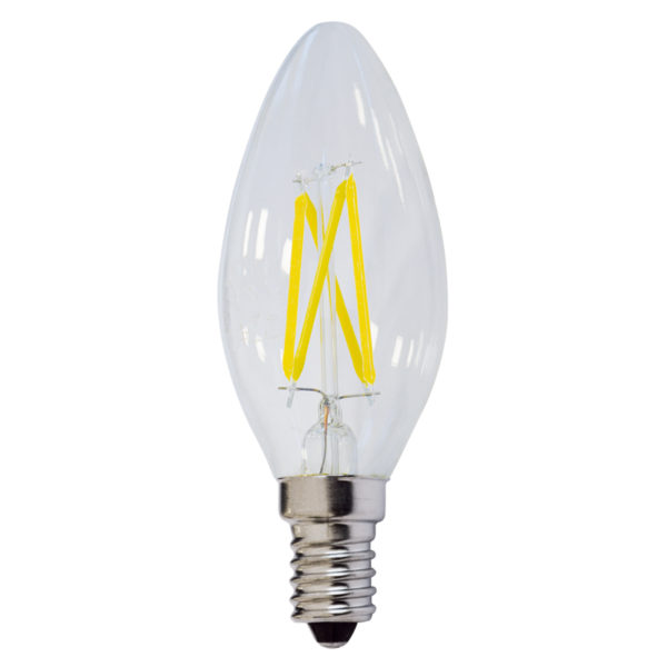 LED žarulja E14 C35 4W filament dimabilna