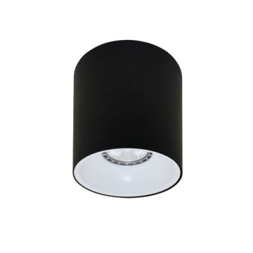 Rotondo stropna lampa okrugla 130 GU10 1x50W max. IP20 - Crno/bijelo
