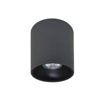 Rotondo stropna lampa okrugla 130 GU10 1x50W max. IP20 - Tamno sivo/crno