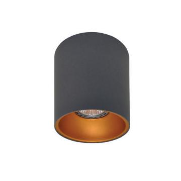 Rotondo stropna lampa okrugla 130 GU10 1x50W max. IP20 - Tamno sivo/zlatno