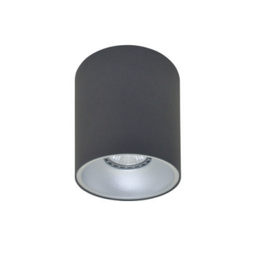 Rotondo stropna lampa okrugla 130 GU10 1x50W max. IP20 - Tamno sivo/srebrno
