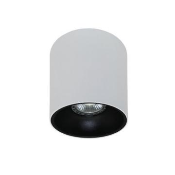 Rotondo stropna lampa okrugla 130 GU10 1x50W max. IP20 - Bijelo/crno
