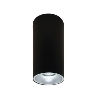 Rotondo stropna lampa okrugla 254 GU10 1x50W max. IP20 - Crno/srebrno