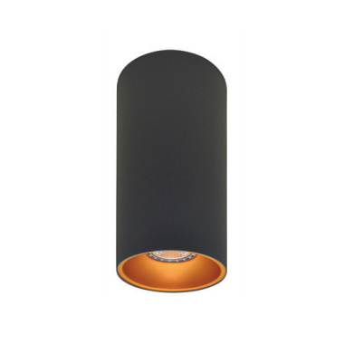 Rotondo stropna lampa okrugla 254 GU10 1x50W max. IP20 - Tamno sivo/zlatno