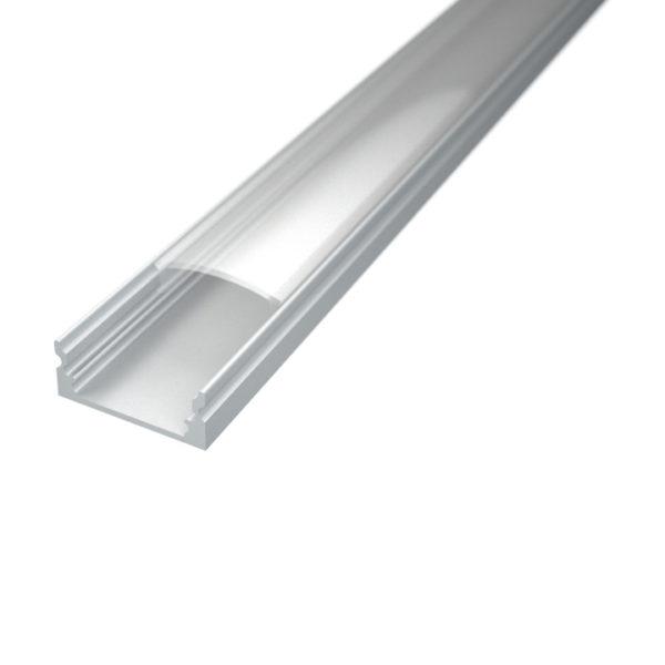 Profil za LED traku nadgradni 1 + prozirni poklopac