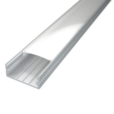 Profil za LED traku nadgradni 3 + mliječni poklopac
